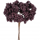 wholesale Artificial Flowers: Berry branch Finn bunch with 4 branches, L27cm, au
